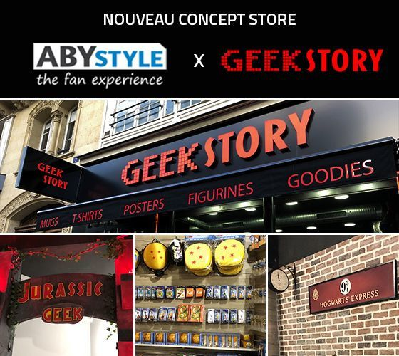 #Geek - Manga Story Paris mangas - animation japonaise ouvre un concept store en partenariat avec ABYstyle - Geek Story !