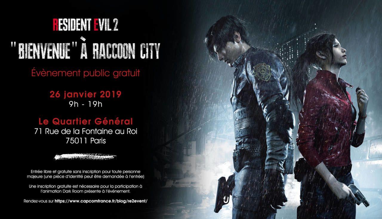 #Gaming - Capcom France convie les fans de Resident Evil à l'animation gratuite bienvenue à Racoon City !