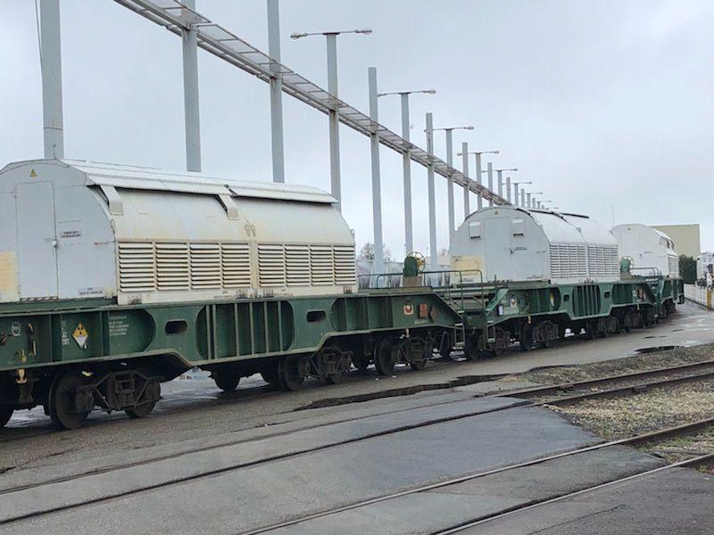 #Nucleaire - Arrivée d'un transport de combustibles usés néerlandais sur le site Orano la Hague pour recyclage