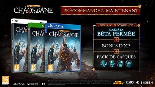 #Gaming - WARHAMMER: CHAOSBANE ANNONCE SA BETA, SA DATE DE SORTIE ET SES BONUS DE PRÉCOMMANDE !