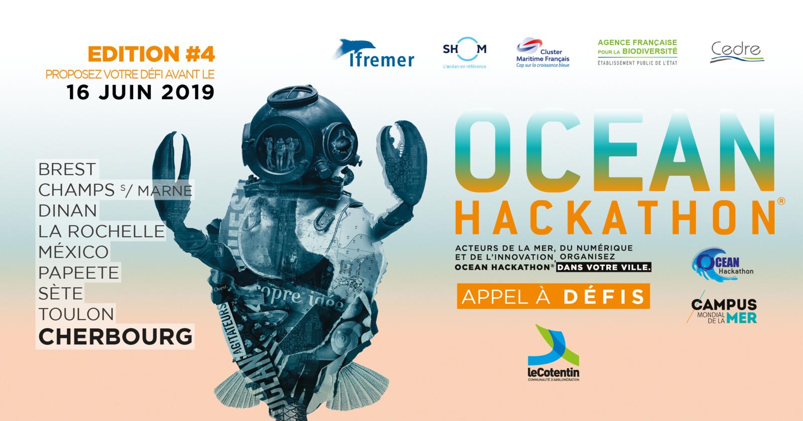 #Cherbourg - OCEAN HACKATHON : LES INSCRIPTIONS SONT OUVERTES !