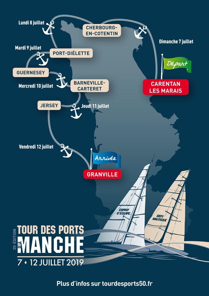 #Sport - Événement nautique du 7 au 12 juillet 2019 - Tour des ports de la Manche : 35ème édition !