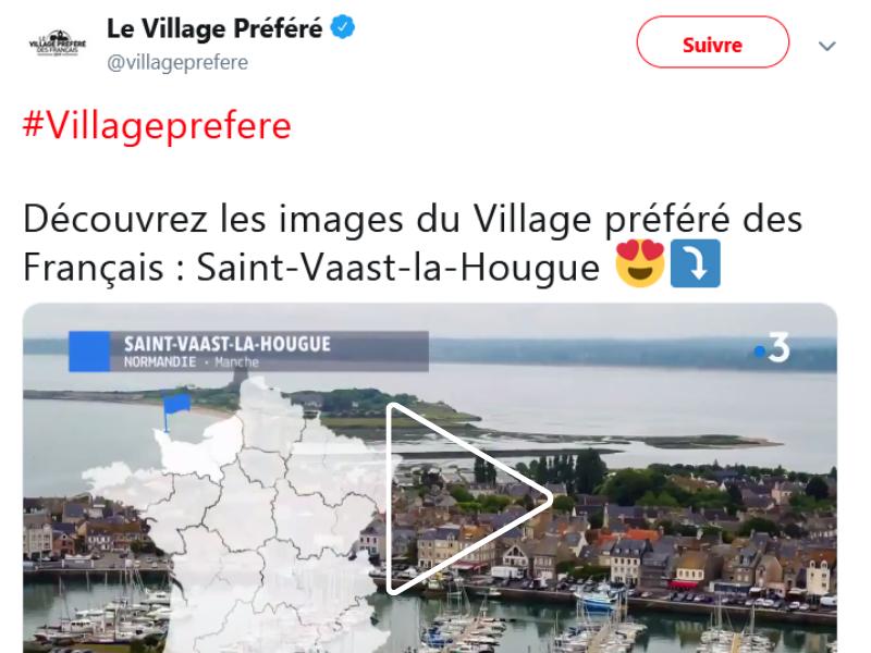 SAINT-VAAST-LA-HOUGUE ÉLU VILLAGE PRÉFÉRÉ DES FRANÇAIS 2019