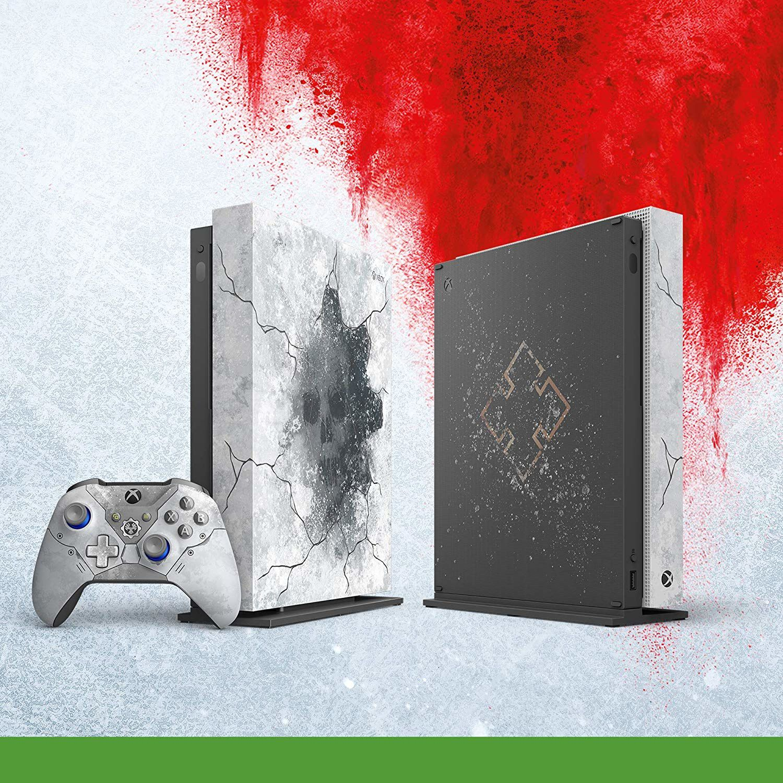 Ci-dessus la Xbox One X collector Gears 5