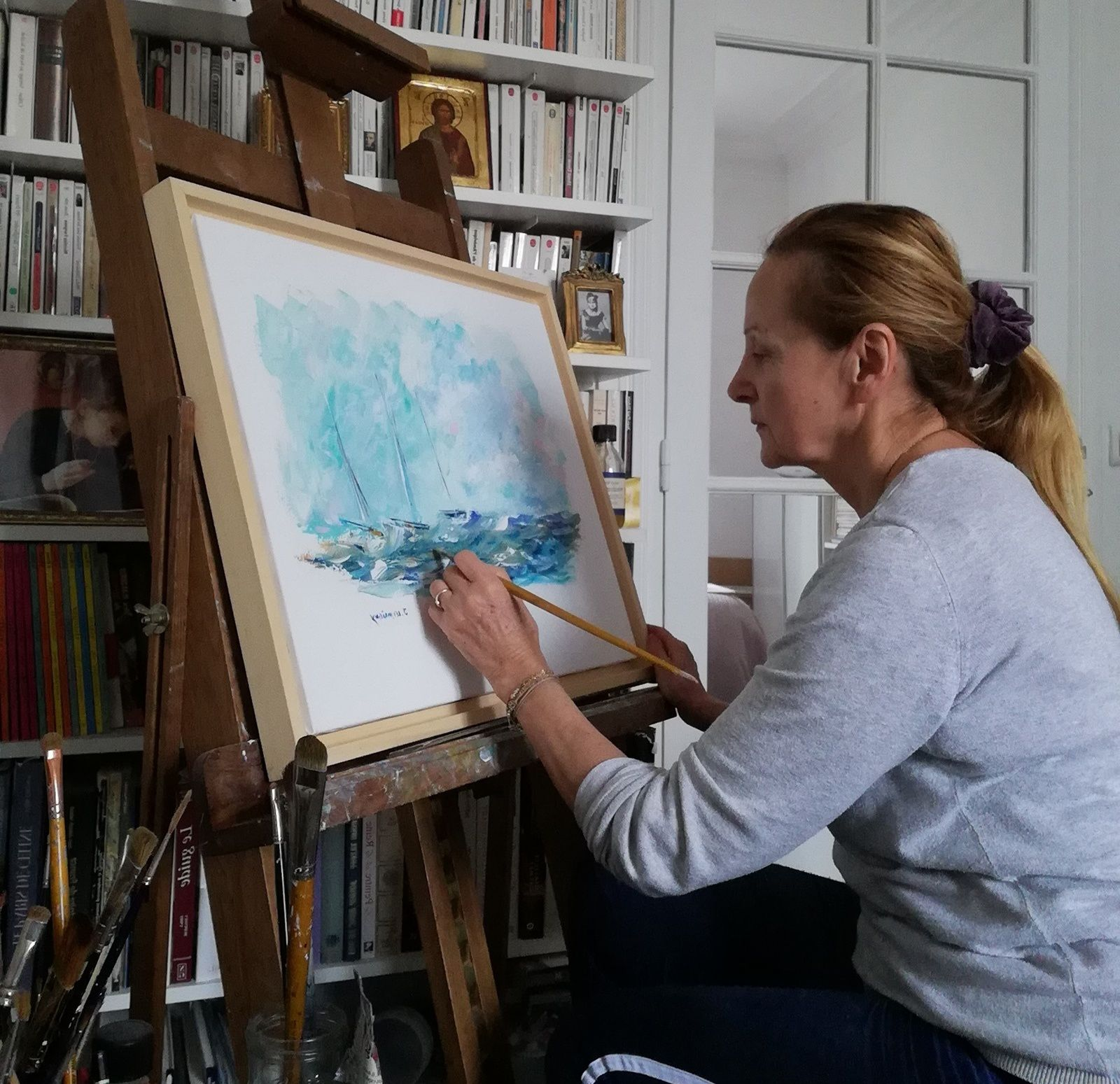 #Avranches - #Culture -  Joëlle Lemarigny expose à l'Atelier Bergevin !