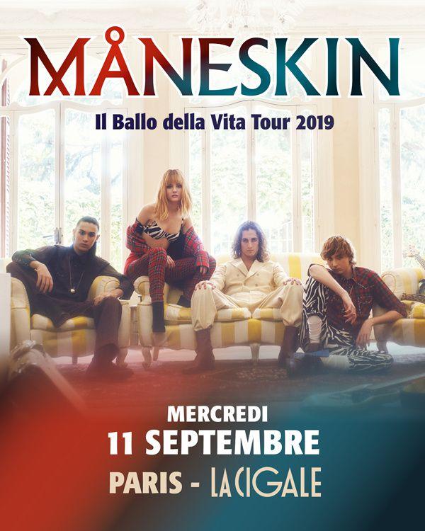#Musique - #Concert - Måneskin en concert à la Cigale ! 11 Septembre