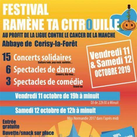 Ligue contre le Cancer - Festival Ramène ta Citrouille - Du  11 au 12 octobre - Festival solidaire à Cerisy-la-Forêt