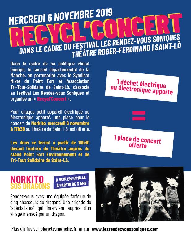 #Ecologie - RECYCL'CONCERT MERCREDI 6 NOVEMBRE 2019 au Théâtre de Saint-Lô