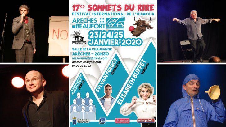 #HUMOUR - 7ème édition des Sommets du Rire à Arêches-Beaufort (Savoie) du 23 au 25 janvier 2020