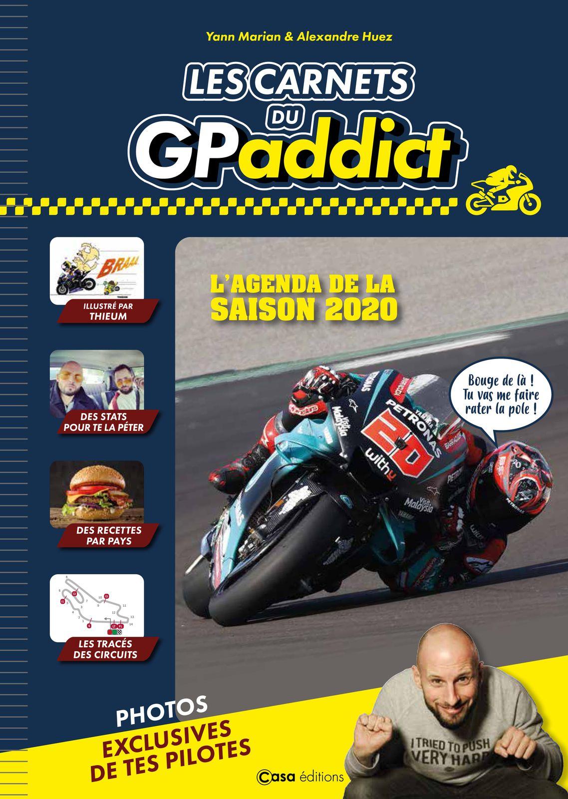 #LIVRE - CARNET DE MOTO GP ADDICT - L'agenda de la saison 2020 !