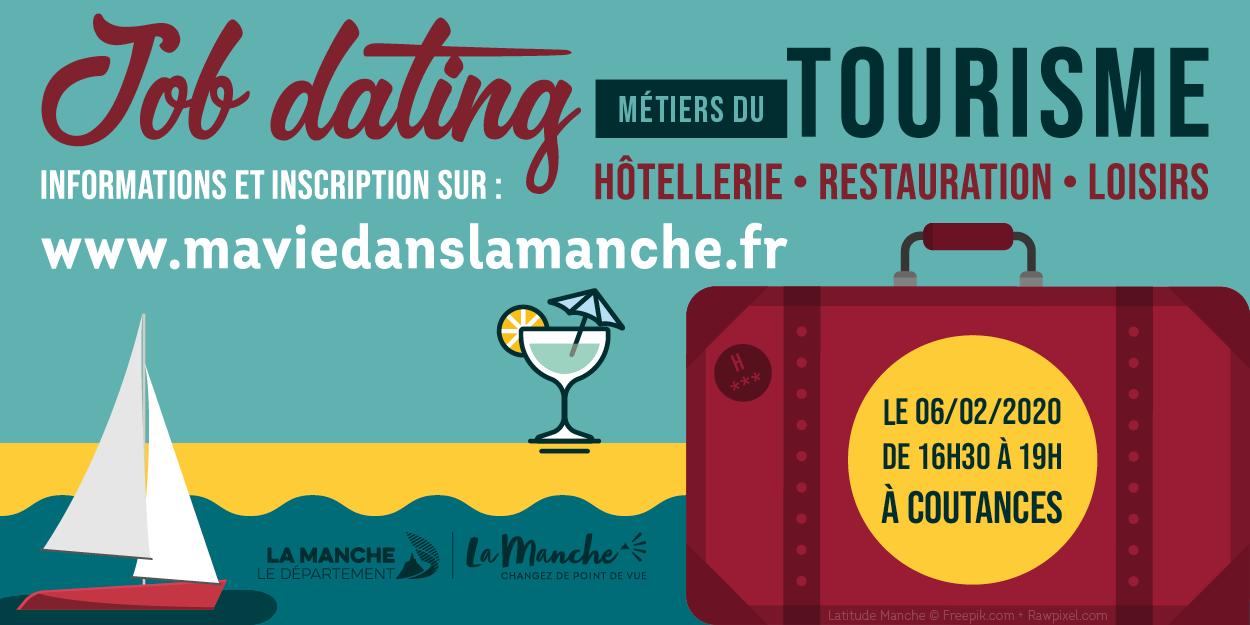 #EMPLOI La manche recrute - Le jeudi 6 février : un job dating des métiers du tourisme, de l'hôtellerie-restauration et des loisirs a #COUTANCES !