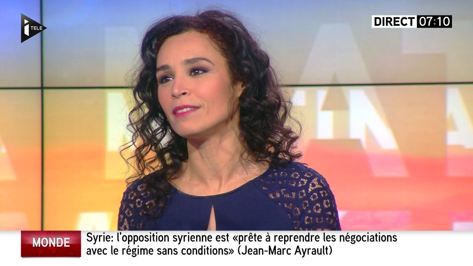 📸 AIDA TOUIHRI @AidaTouihri ce matin @itele #WEMATINALE #vuesalatele