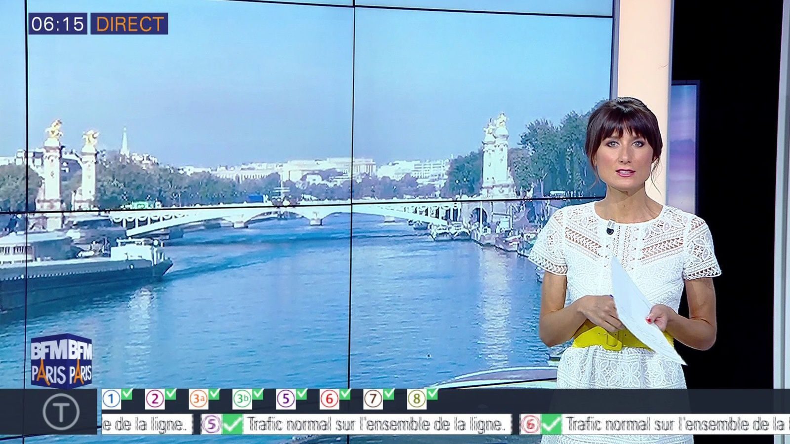 📸8 AURELIE BLONDE pour BONJOUR PARIS @JohannaCarlosD8 @BFMParis ce matin #vuesalatele