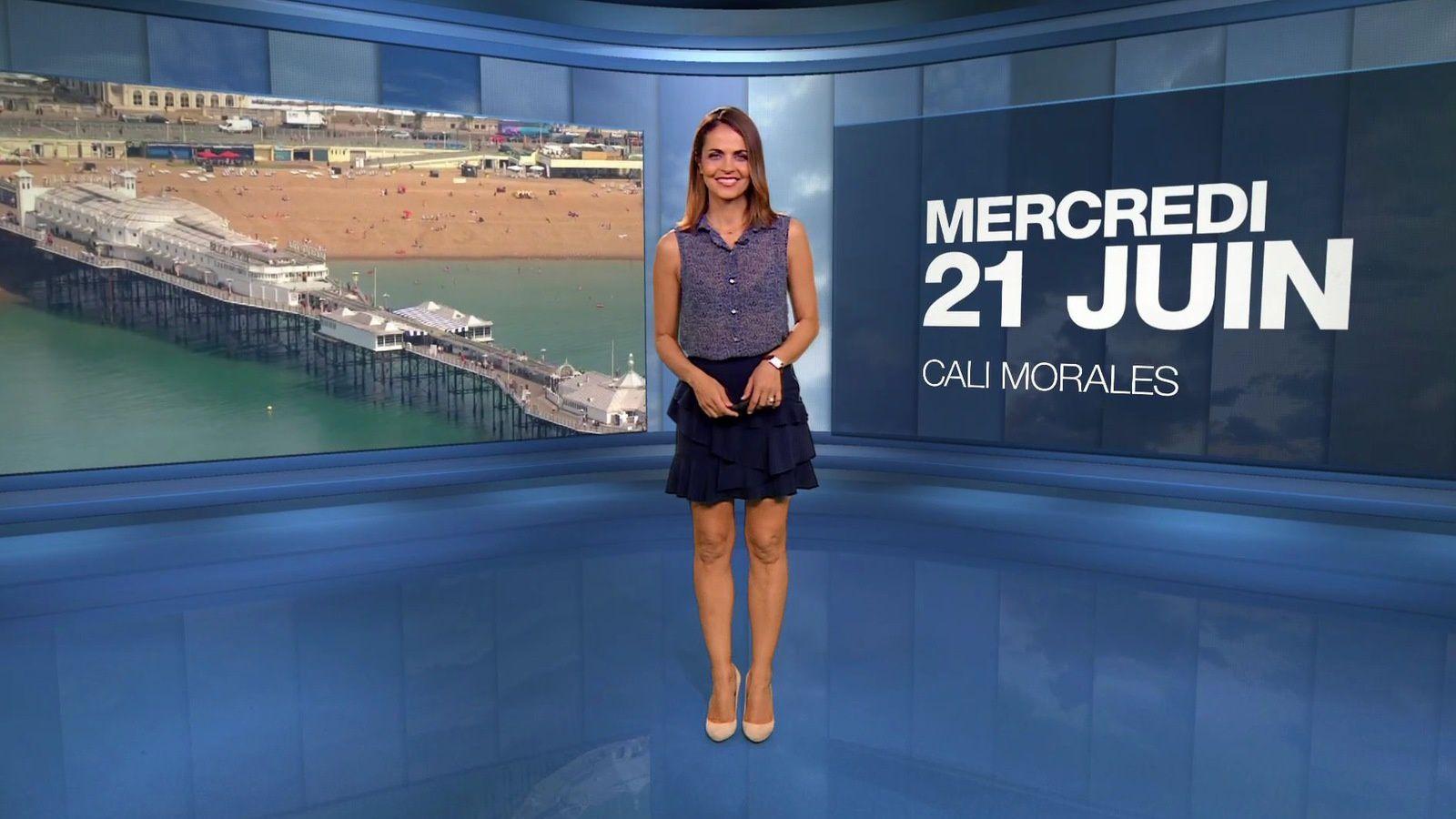 📸4 📺1 LA METEO et LA METEO DES PLAGES de CAROLINE 'CALI' MORALES ce soir sur M6 #vuesalatele
