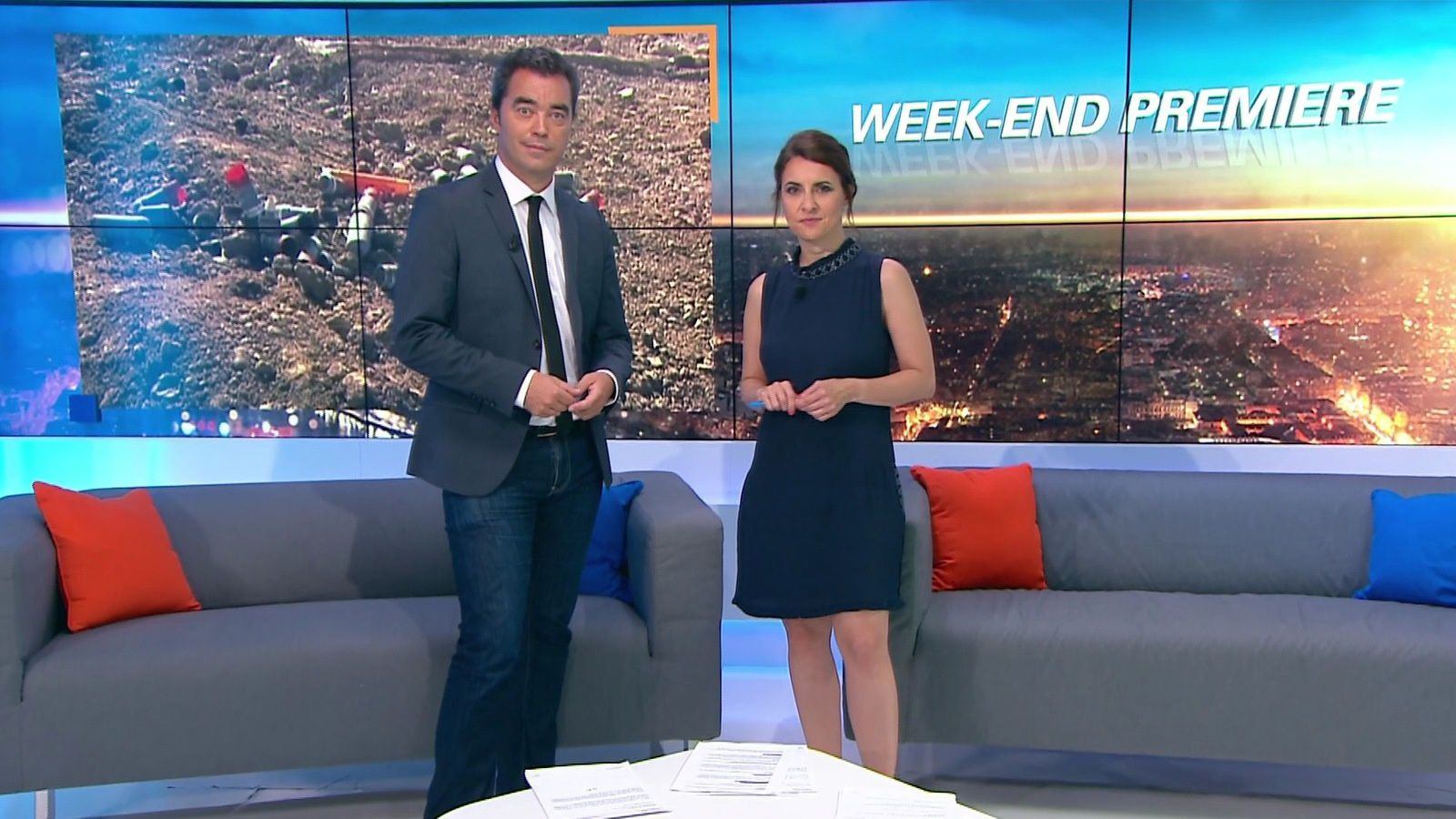 📸6 WEEK-END PREMIERE @BFMTV @BFMTVmatinaleWE @SandraGandoin @JohannaCarlosD8 ce matin #vuesalatele