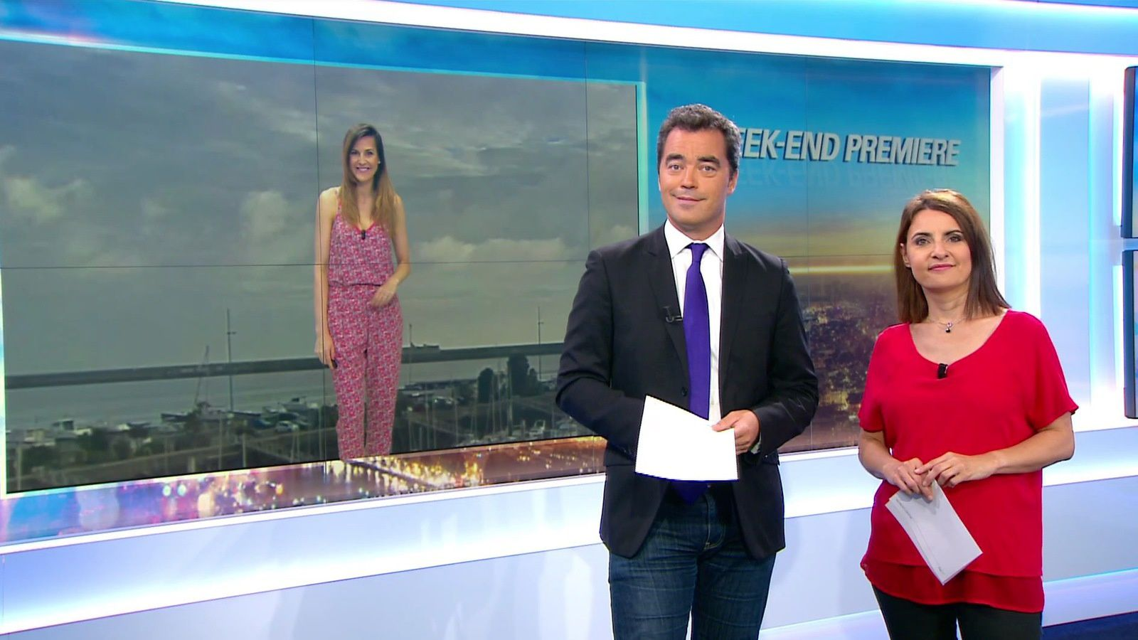 📸13 WEEK-END PREMIERE @BFMTV @BFMTVmatinaleWE @SandraGandoin @JohannaCarlosD8 ce matin #vuesalatele