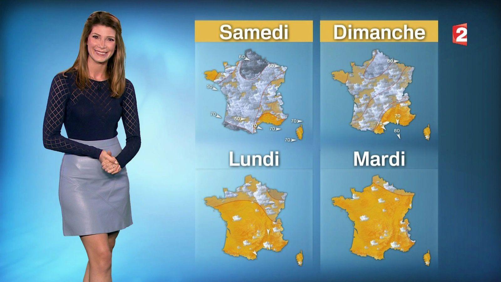 📸2 📺1 CHLOE NABEDIAN @ChloeNabedian @Soniadsm ce soir pour LA METEO @France2tv #vuesalatele