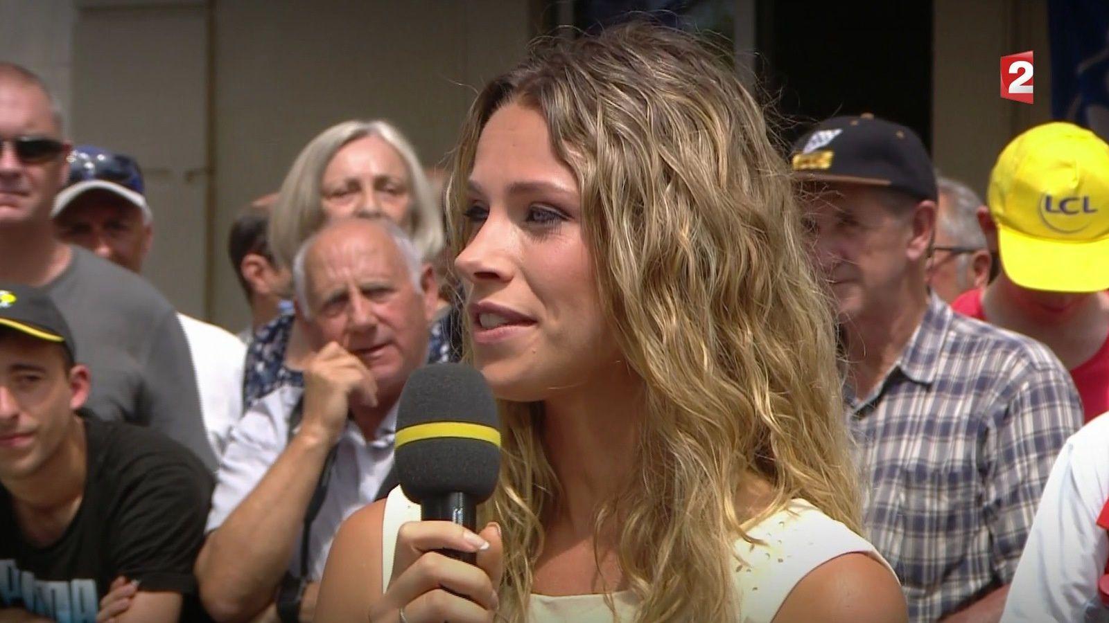 📸6 MARION ROUSSE @Roussemarion ce midi @france2tv 🚴 @Tourdefrance17 🚴 #vuesalatele #tourdefrance2017