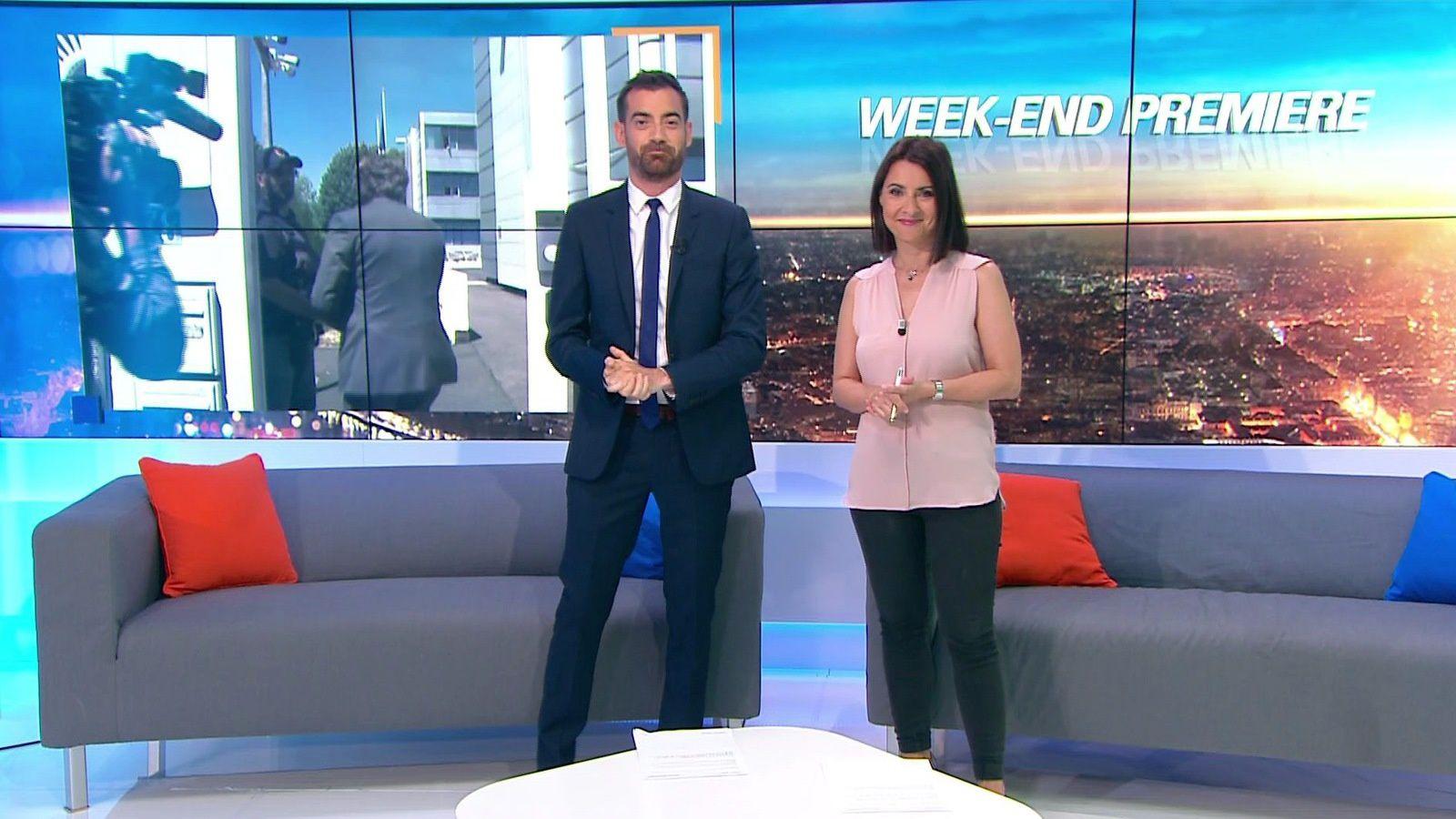 📸8 WEEK-END PREMIERE @BFMTV @BFMTVmatinaleWE @SandraGandoin @JohannaCarlosD8 ce matin #vuesalatele