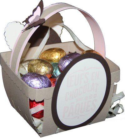Un panier pour Pâques avec un lapin