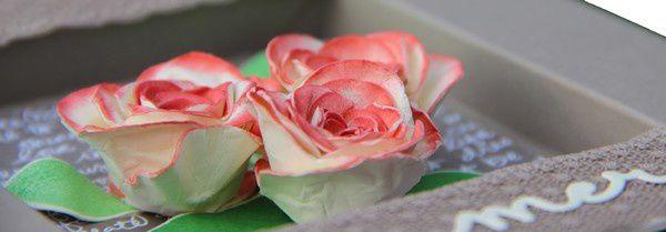 Carte roses en 3d