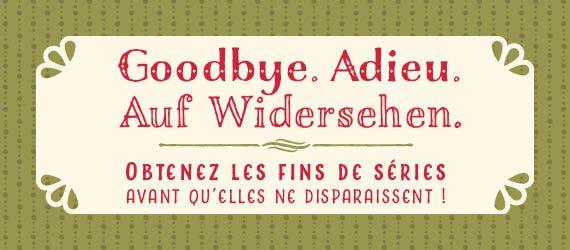 Fin de série du catalogue automne/hiver