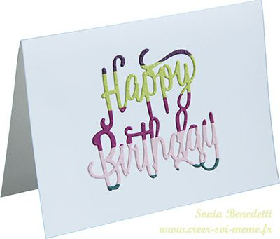 Happy birthday by StampinUp!