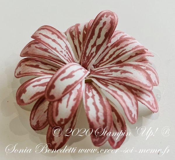 marguerite stampin up perforatrice pour confectionner des fleurs