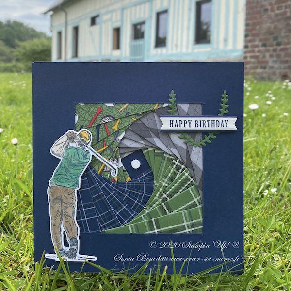 carte pour anniversaire d'un golfeur