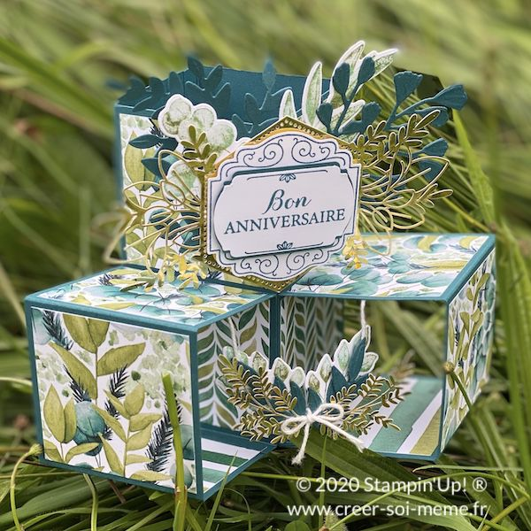 carte cubes pop up stampin up tutoriel