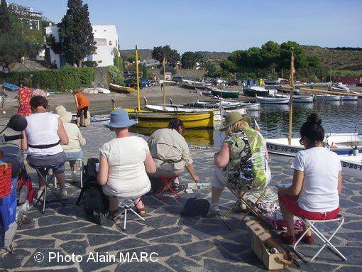Stage carnet de voyage Alain MARC  «De Collioure à Cadaquès» (Port LLegat - Espagne septembre 2010)