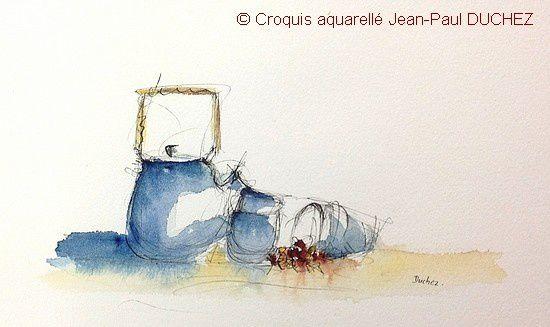 Croquis aquarelle de Jean-Paul DUCHEZ