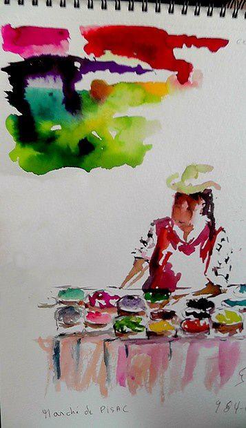 La marchande de couleurs de Laurette.