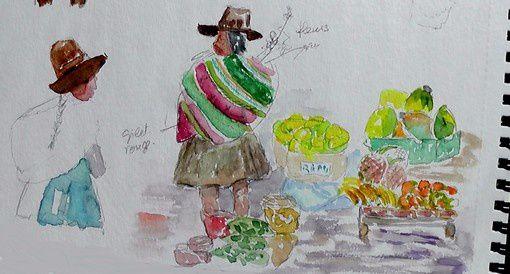 Au marché de Pisac par Michèle.