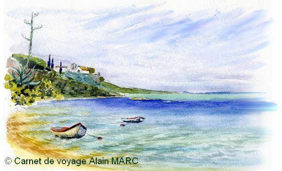 La petite crique de Cacela Velha sur la côte sauvage du Ria Formosa