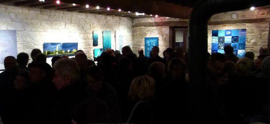 On se bousculait le soir du vernissage à galerie de la Ferme de Corcelle !