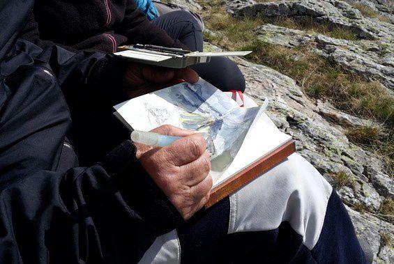 Nouvelle étape du voyage du bleu 2e partie: la brebis du Pic rouge de Pailla.