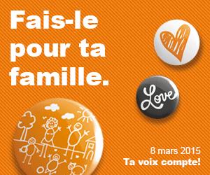 Votations du 8 mars 2015: exonérer de l'impôt les allocations familiales? Oui