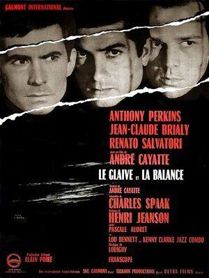 """L'affiche du film d'André Cayatte, """"Le glaive et la balance"""""""