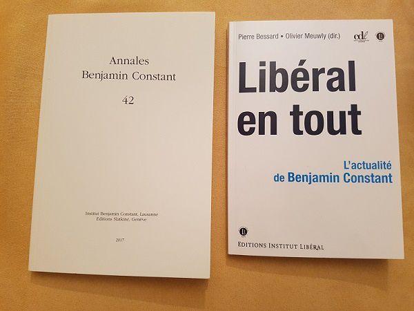 L'actualité de Benjamin Constant: les contributions du colloque du 6 mai 2017