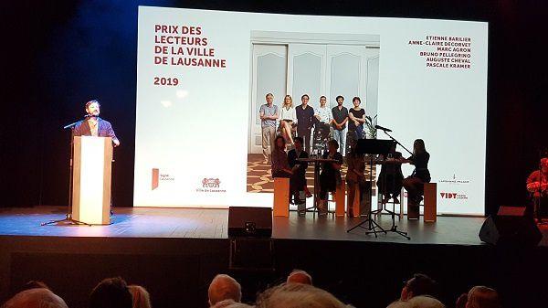 Remise du prix des lecteurs de la ville de Lausanne 2019