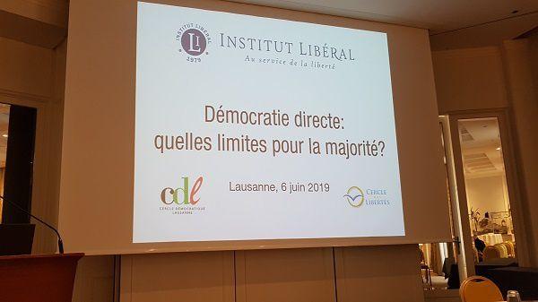 Démocratie directe: quelles limites pour la majorité?, une soirée-débat, à Lausanne