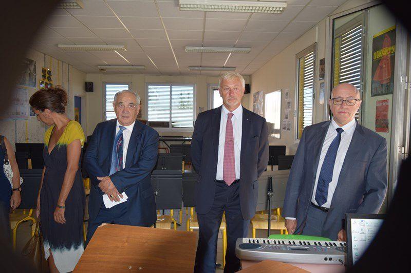 Visite du conseil départemental au collège Marie Mauron