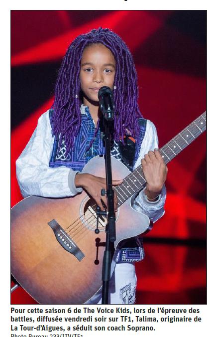 The Voice Kids: Talima a su éblouir Soprano