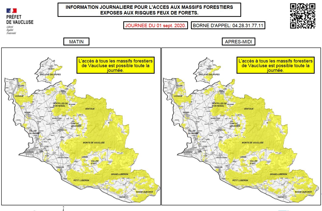 ACCES AUX MASSIFS FORESTIERS DE VAUCLUSE