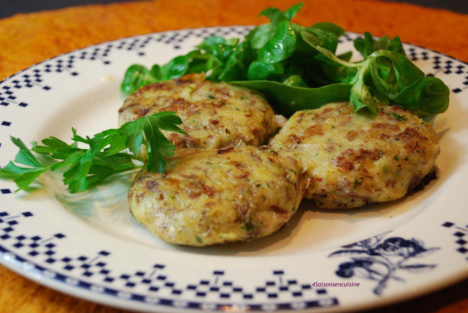 Croquettes de pommes de terre au boeuf