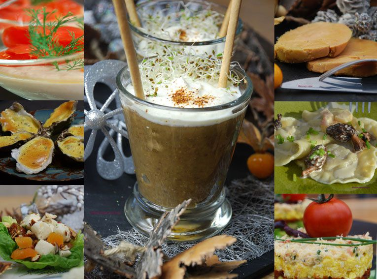 Des idées pour les menus de fêtes ... des entrées