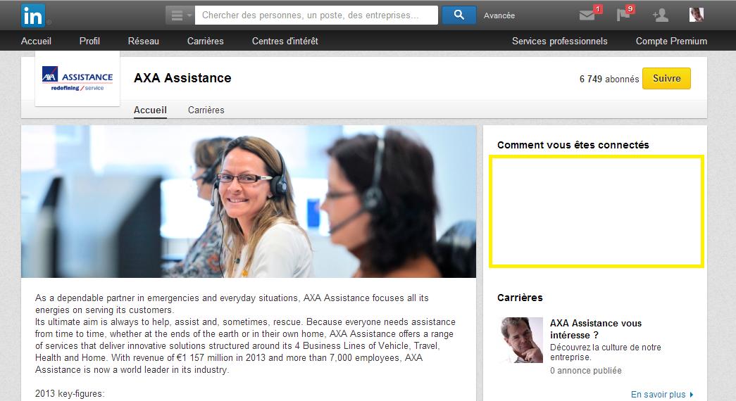 AXA mise sur le bonus des réseaux sociaux Linkedin et Facebook ... et ça marche.