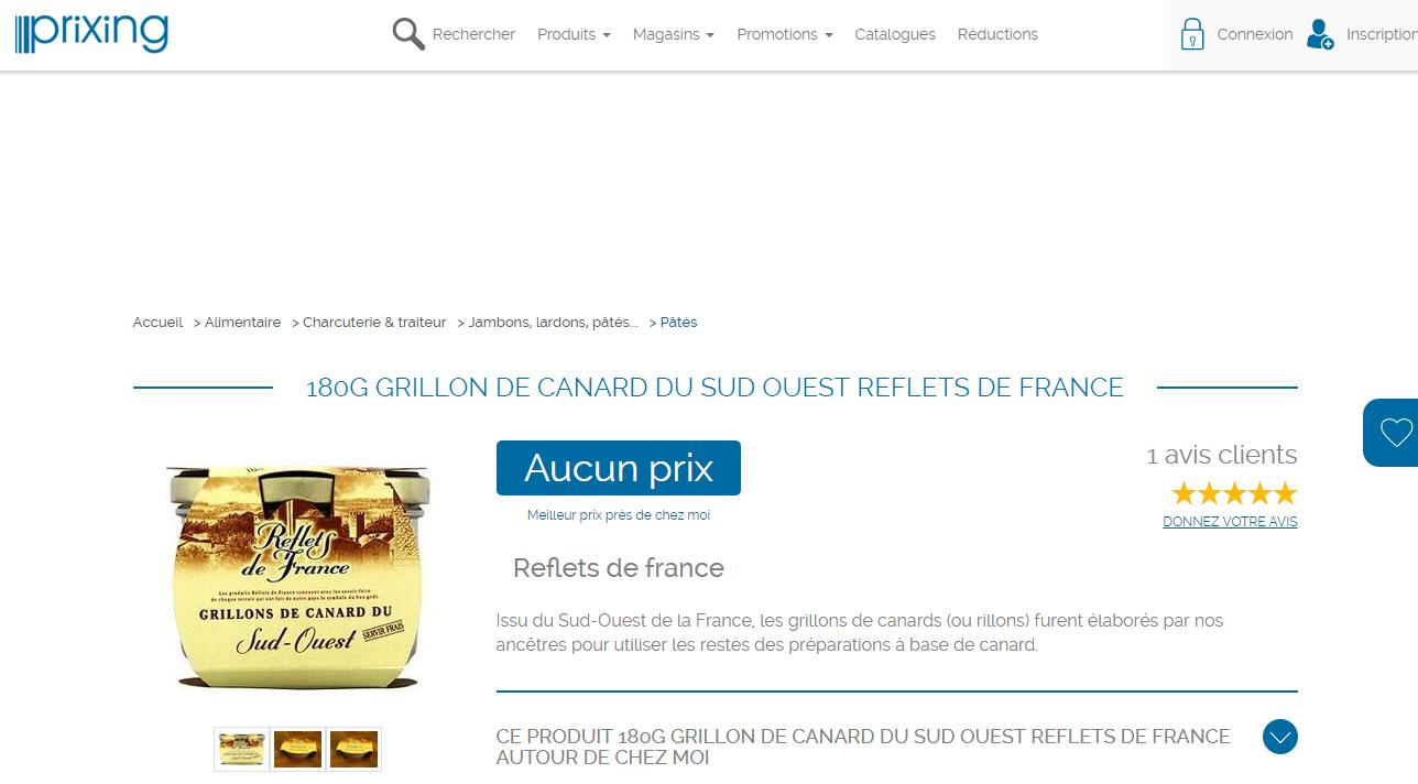 Carrefour vendu sur Amazon ? 29 références Reflets de France (MDD région de Carrefour) vendues sur Amazon.fr. Bizarre mais logique.