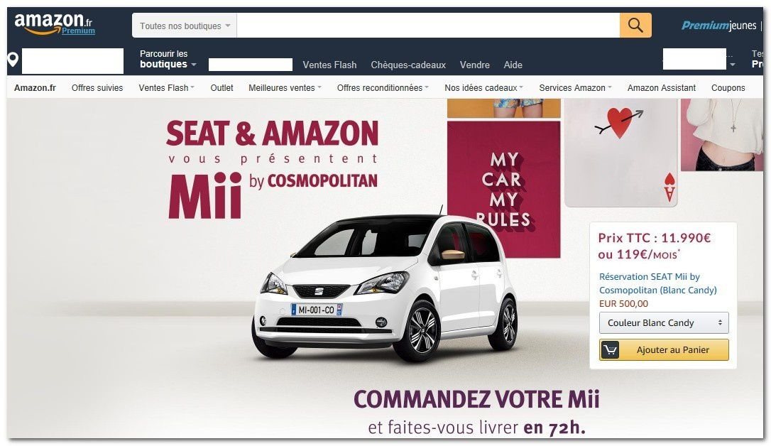Amazon en France à vendu des Seat.. à quand la suite ?
